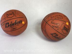 2 autographed basketballs including Coach Carey