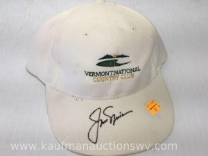 Vermont national country club hat autographed by Jack Nicholas
