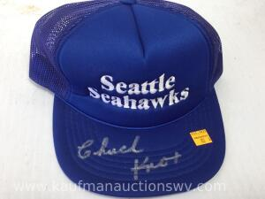 Seattle Seahawks hat autographed by Chuck knox