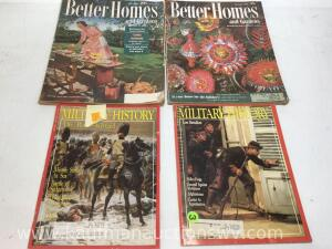 1956 better homes and 1988 military history magazines