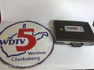 Wdtv decal and NewsWatch 12 briefcase