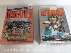 75th anniversary and 30th Super Bowl anniversary Wheaties boxes