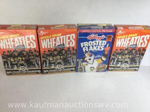 1991 and 1992 Pittsburgh Penguins Wheaties boxes