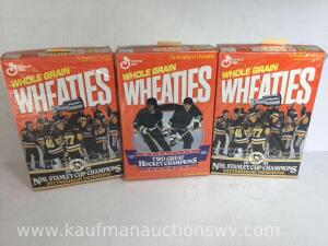 1991 penguins and jaromir jagr and Mario lemieux Wheaties boxes