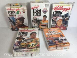 NASCAR cereal boxes