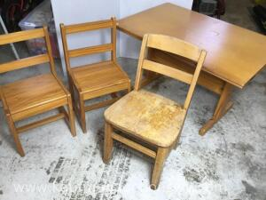 Child's table and three chairs