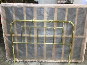 Half bed metal frame and headboard