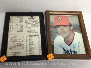 Nolan Ryan autographed picture and Joe Paterno and other autographS