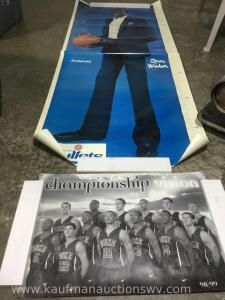 Life size Monute bol Poster and duke 1998 1999 championship poster