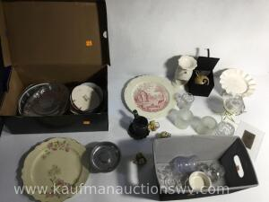 Collector plates, candleholders, Decor