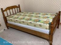 Antique handmade wall Walnut twin bed frame