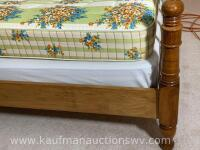 Antique handmade wall Walnut twin bed frame - 2