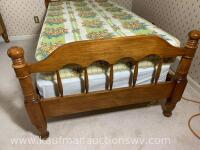 Antique handmade wall Walnut twin bed frame - 6
