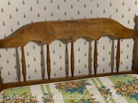 Antique handmade wall Walnut twin bed frame - 7