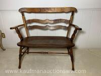 Antique Indianapolis chair and furniture co. bench