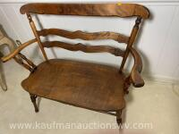 Antique Indianapolis chair and furniture co. bench - 2