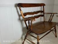 Antique Indianapolis chair and furniture co. bench - 3