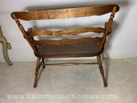 Antique Indianapolis chair and furniture co. bench - 5