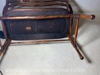 Antique Indianapolis chair and furniture co. bench - 6
