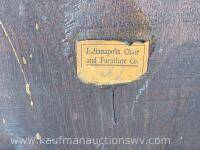 Antique Indianapolis chair and furniture co. bench - 7