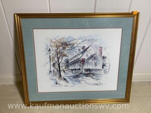 "20"" x 24"" the Raleigh Tavern Williamsburg John Haymson print"