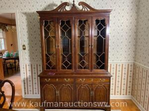 Replicas Thomasville 2 piece lighted china hutch