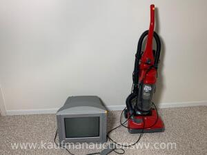 "14"" Sony TV & dirt devil 12 Amp sweeper"