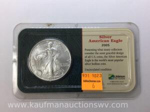 2005 uncirculated American silver eagle
