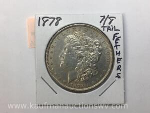 1878 7/8 tail feather Morgan