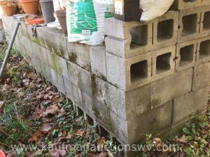"Approximately 170 cinderblocks 7 1/2"" x 7 1/2"" x 15 1/2"""