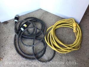 Two heavy duty power cords