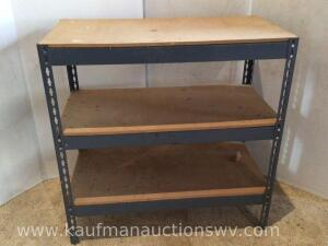 Metal framed adjustable table