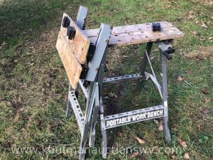 Two portable workbenches
