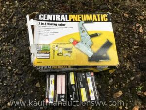 Central pneumatic three in one flooring nailer with 2 inch nails