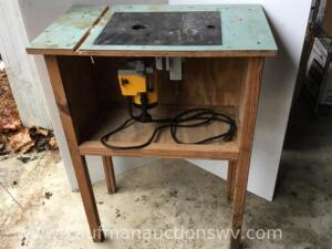 Chicago plunge router and stand