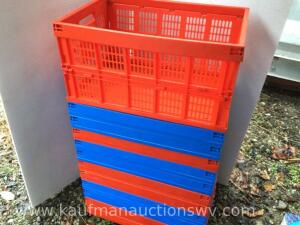 "12 collapsible crates 23/4"" x 14"""