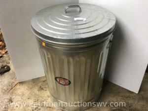 31 gallon galvanized garbage can with lid
