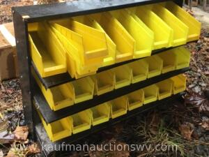 Three tier metal organizer and plastic organizers