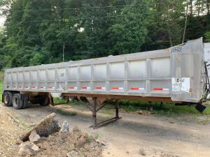 1991 39' east aluminum dump trailer -vin # 1E1F9U288MRJ12110 have title