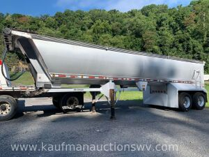 "2007 mac""simizer  34' aluminum dump trailer"