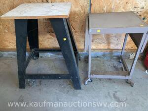 Metal drop leaf cart, radial arm saw base