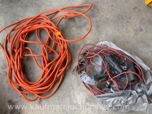 20 foot extension cord, trailer light plugs
