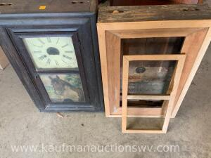 Two old clock frames