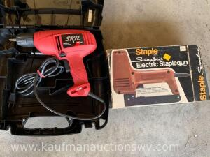 "Skil electric 3/8"" drill, electric staple gun"