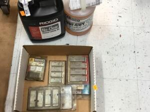 Arco mineral oil, Ridgid threat cutting oil, Ridgid pipe dies
