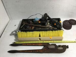 Burndy crimper, floor room, air cut off tool, screws, bolts, Cut off wheels and more