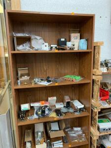 Two particleboard shelves