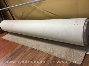"12' x 21"" diameter roll of carpet"