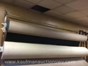 "2 - 12' wide carpet rolls, largest roll is 18"" diameter"