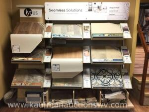 Vinyl Flooring display rack with samples